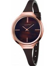 Calvin Klein K4U236FK Ladies Lively Brown Silicone Strap Watch