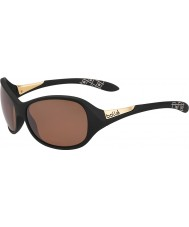 Bolle Grace Matte Black Polarized Sandstone Gun Sunglasses