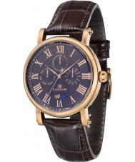 Thomas Earnshaw ES-8031-04 Mens Maskelyne Brown Crock Leather Strap Watch