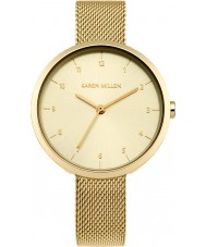 Karen Millen KM135GM Ladies Gold Plated Bracelet Watch