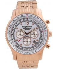 Krug Baümen 600601DS Mens Air Traveller Diamond Watch