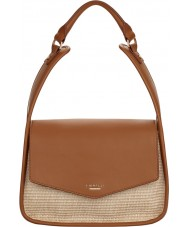 Fiorelli FH8685-TANRAFFIA Ladies Dakota Tan Raffia Large Shoulder Bag