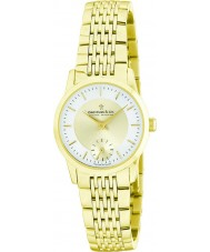 Dreyfuss and Co DLB00002-03 Ladies 1946 Gold Plated Bracelet Watch