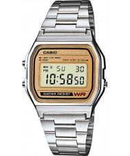 Casio A158WEA-9EF Collection Classic Silver Steel Chronograph Watch
