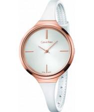 Calvin Klein K4U236K6 Ladies Lively White Silicone Strap Watch