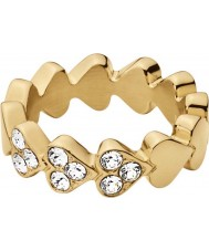Dyrberg Kern 337002 Ladies Lovette II Gold Plated Ring