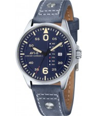 AVI-8 AV-4003-05 Mens Hawker Harrier II Blue Leather Strap Watch
