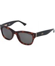 Zadig and Voltaire Ladies SZV051-09AT Shiny Red Havana Sunglasses