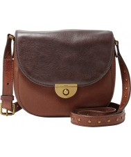 Fossil ZB6916249 Ladies Emi Multi Brown Saddle Cross Body Bag