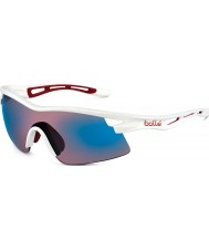 Bolle Vortex Shiny White Rose Blue Sunglasses