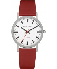 Danish Design Q19Q199 Mens Red Leather Strap Watch