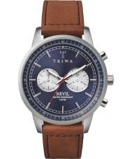 Triwa NEST108-SC010216 Blue Steel Nevil Brown Leather Strap Watch