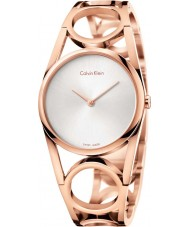 Calvin Klein K5U2S646 Ladies Round Rose Gold Plated Watch
