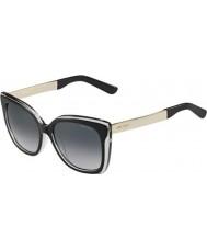 Jimmy Choo Ladies Octavia-S 19U HD Black Grey Gold Sunglasses