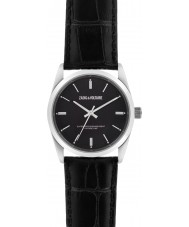 Zadig and Voltaire ZVF234 Fusion Black Crock Leather Strap Watch