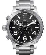 Nixon A083-1000 Mens 51-30 Silver Steel Bracelet Chronograph Watch