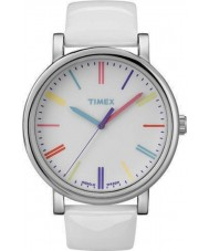 Timex Originals T2N791 Ladies White Multicolor Classic Round Watch