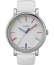 Timex Originals T2N791 Ladies White Multicolor Classic Round Watch