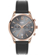 Henry London HL39-CS-0122 Finchley Black Leather Chronograph Watch