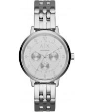 Armani Exchange AX5376 Ladies Payton Silver Steel Bracelet Watch