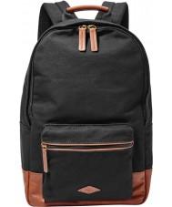 Fossil MBG9217001 Mens Estate Black Canvas Backpack