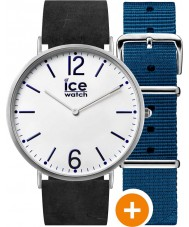 Ice-Watch CHL.B.FIN.41.N.15 Mens Ice-City Watch with Blue Nylon and Black Leather Straps