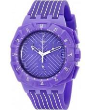 Swatch SUIV401 Chrono Plastic - Purple Run Watch