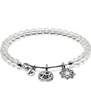 Chrysalis Clear Crystal Redemption Rhodium Plated Expandable Charm Bangle