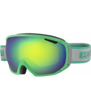 Bolle 21444 TSAR Matte Green and Grey - Green Emerald Ski Goggles