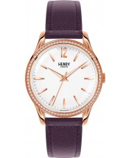Henry London HL39-SS-0086 Ladies Hampstead White Purple Watch with Swarovski Elements
