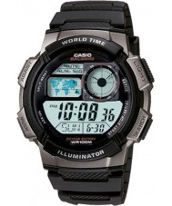 Casio AE-1000W-1BVEF Mens World Time Digital Black Watch