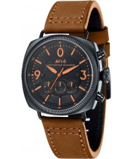 AVI-8 AV-4022-07 Mens Lancaster Bomber Brown Leather Strap Chronograph Watch