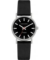 Danish Design V13Q199 Ladies Black Leather Strap Watch