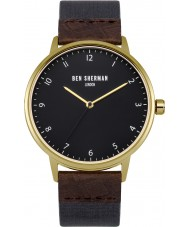 Ben Sherman WB049UG Mens Portobello Heritage Blue and Brown Strap Watch