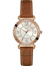 Guess W0833L1 Ladies South Hampton Brown Leather Strap Watch