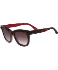 Valentino Ladies V723S Havana Rouge Sunglasses