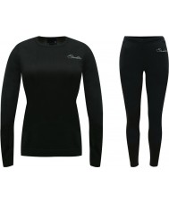 Dare2b Ladies Wool Black Baselayer Set