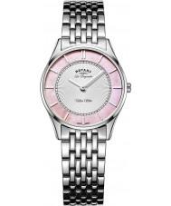 Rotary LB90800-07 Ladies Ultra Slim Silver Steel Bracelet Watch
