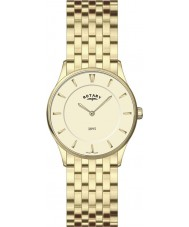Rotary LB08203-03 Ladies Ultra Slim Champagne Gold Watch