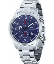 AVI-8 AV-4001-13 Mens Hawker Harrier II Silver Steel Chronograph Watch