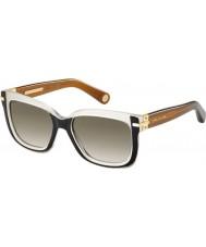 Marc Jacobs Ladies MJ 507-S 0MV HA Black Ivory Brown Sunglasses