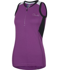 Dare2b DWT136-7JX12L Ladies Fervor Perform Purple Jersey Top - Size S (12)