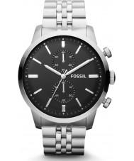 Fossil FS4784 Mens Townsman Silver Steel Chronograph Watch