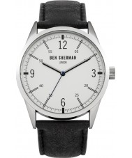 Ben Sherman WB051B Mens Black Leather Strap Watch