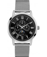 Guess W0871G1 Mens Delancey Silver Steel Bracelet Watch