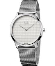 Calvin Klein K3M2112Y Mens Minimal Silver Mesh Watch