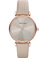 Emporio Armani AR1681 Ladies Cream Leather Strap Dress Watch