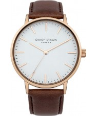 Daisy Dixon DD017TRG Ladies Brown Leather Strap Watch