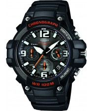 Casio MCW-100H-1AVEF Mens Collection Neo Display Black Resin Chronograph Watch