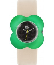 Orla Kiely OK2123 Ladies Oversized Poppy Cream Leather Strap Watch
